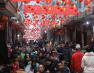 天峨老街举办第四届长桌宴